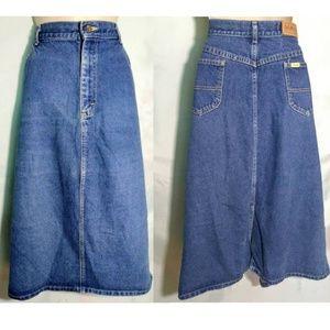 LL BEAN Woman's Size 18 Jean Midi Skirt